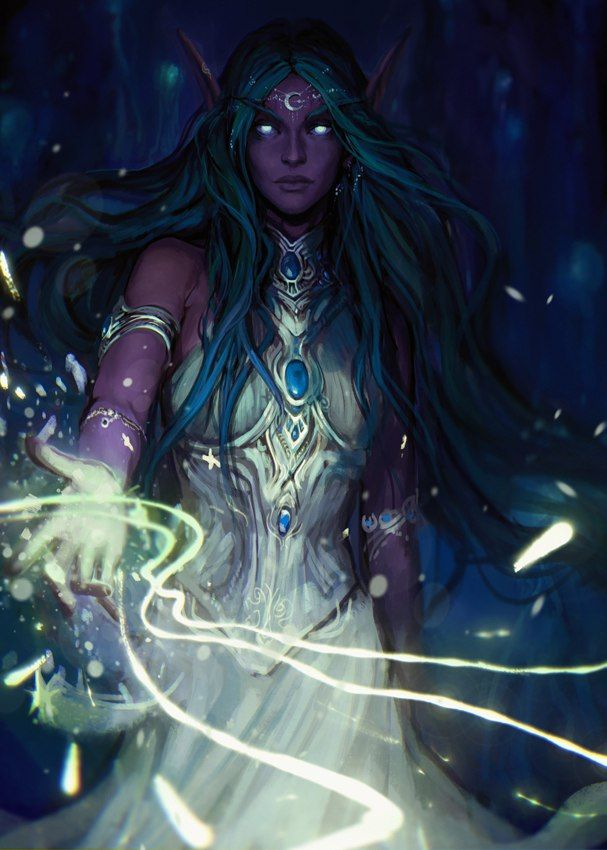 World of Warcraft: Legion | Tyrande Whisperwind by exellero