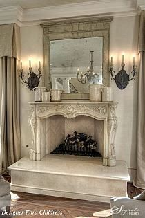 14 best Country French fireplaces images on Pinterest   Fireplace ...