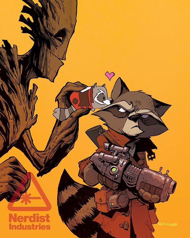 Tsum Tsum variant cover for Rocket Raccoon and Groot issue 8. The book should be on comic shop shelves soon.