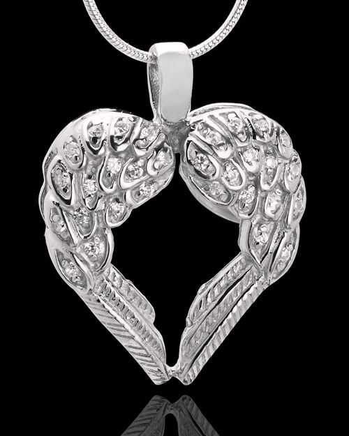 66 best heart pendants images on pinterest heart pendants winged memories sterling silver heart cremation pendant aloadofball Image collections