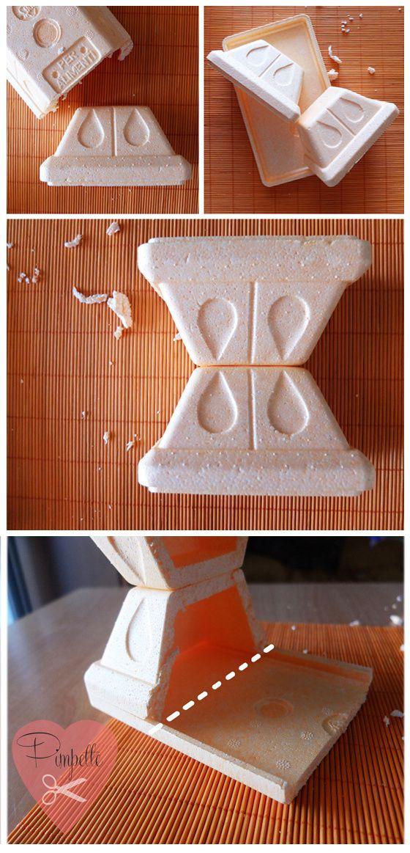 vaschetta di polistirolo: prima trasformazione!