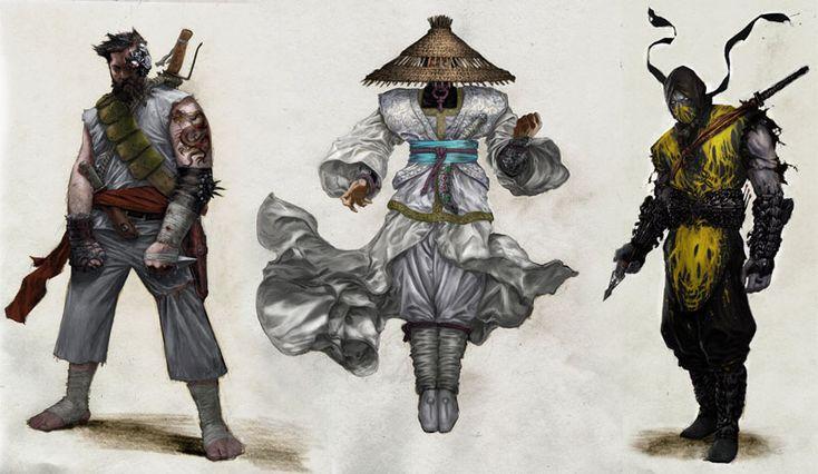 Kano, Raiden, Scorpion
