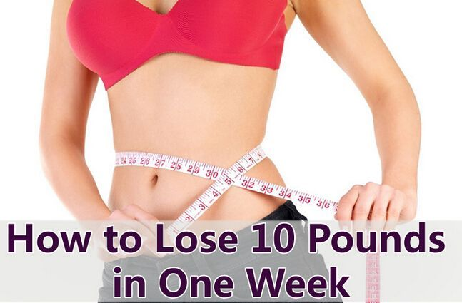 How to lose 10 Pounds in Just one Week | MyHealthy…