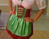 Sexy Oktoberfest Dress, Bavarian Dirndl, Gretchen Costume