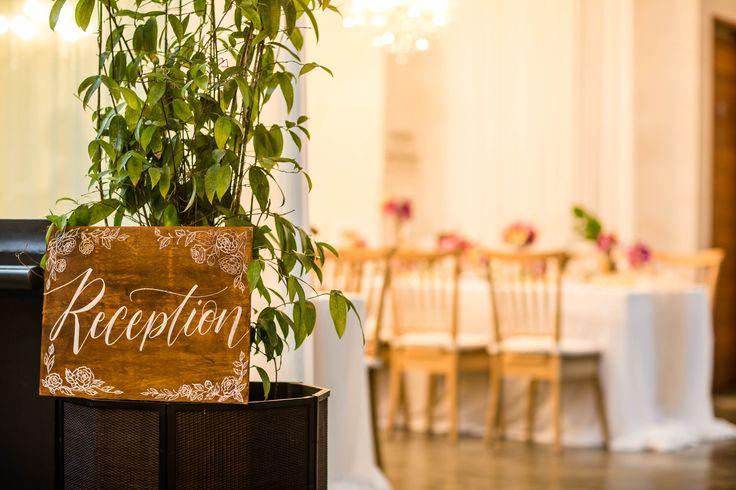 Tropical Destination Wedding Reception Sign