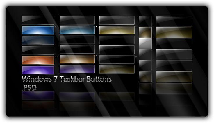 Win7 Taskbar Buttons .PSD by ~giannisgx89 on deviantART
