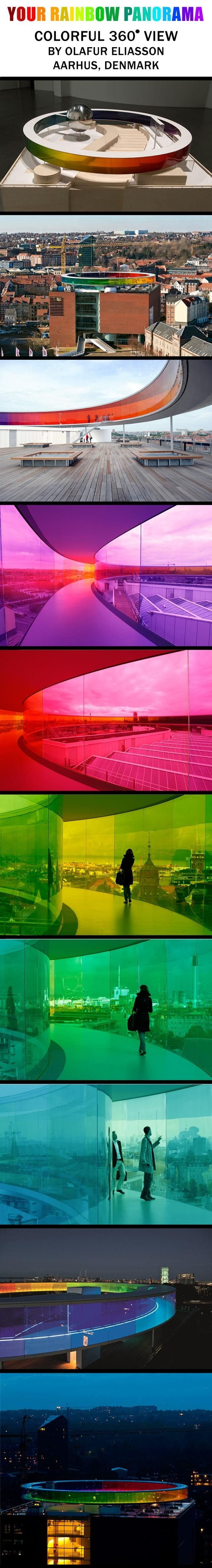 Brought to you by http://www.etsy.com/people/UncommonRecycables rainbow panorama, olafur eliasson, denmark.