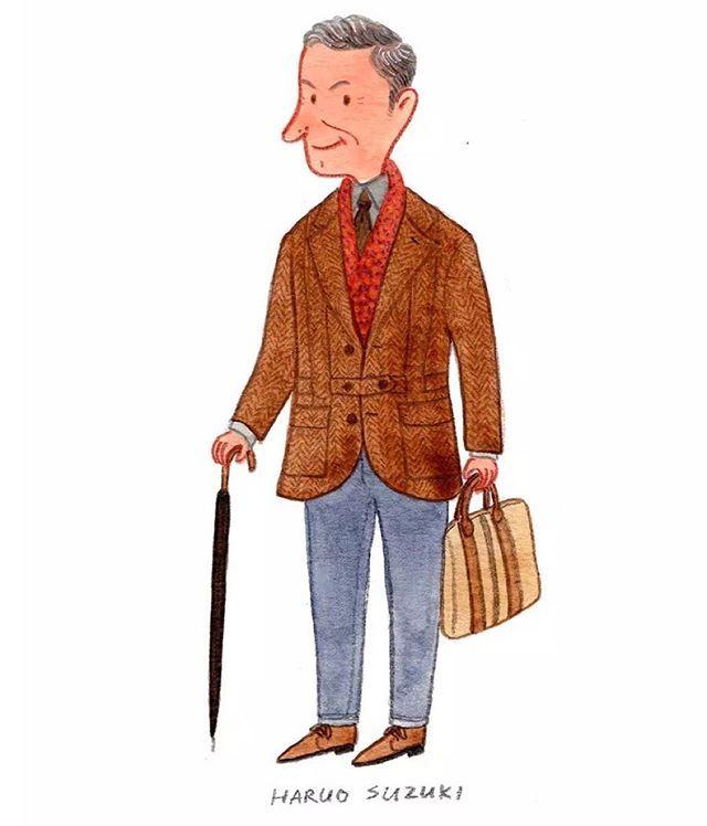 Mr. Haruo Suzuki #pittiuomo #fashionillustration #sartorial #mensfashion #haruosuzuki #slowboy