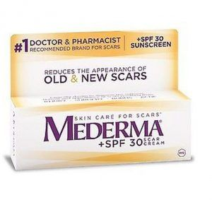 Mederma® Scar Cream Plus SPF 30:   The sun can worsen the look of scars and continue to damage the tissue that has already been through a traumatic experience. Protecting your scar so other health issues do not arise is highly crucial, which is why Mederma® Scar Cream Plus contains an SPF 30.