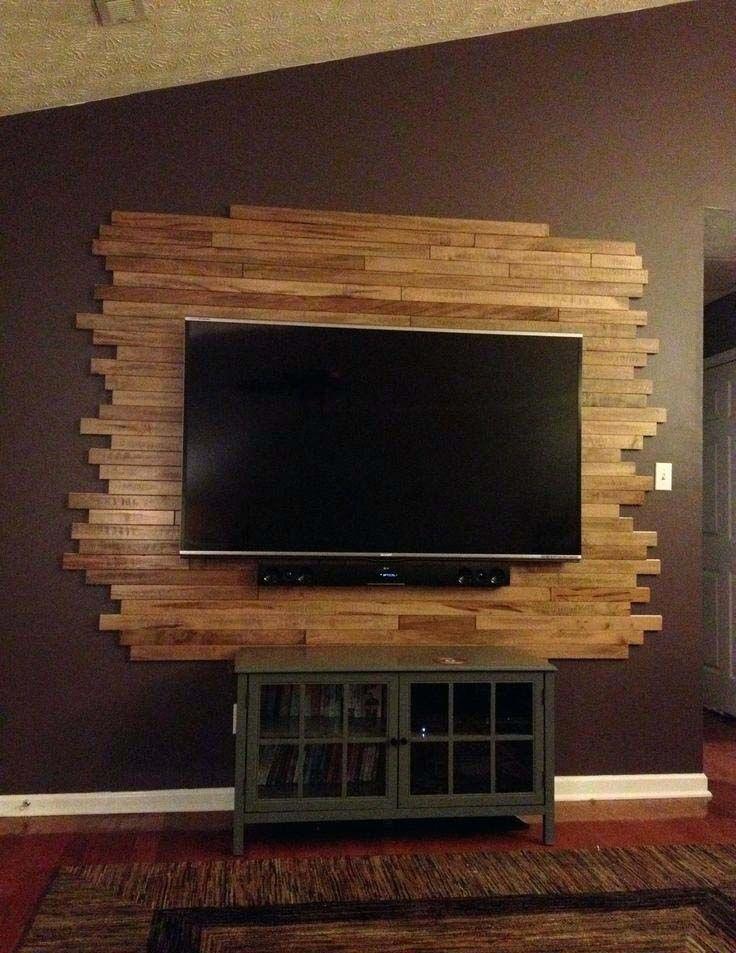 Tv Wall Mount With Diy Back Panel Livingroomfurniturelayoutwithtv Pared Tv Moderna Diseno De Pared Tv Tv Montado En Pared