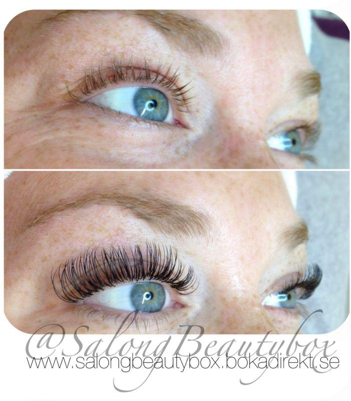 Härliga vackra ögon med inramning av fransar! Utfört av Nicolina på salong Beautybox