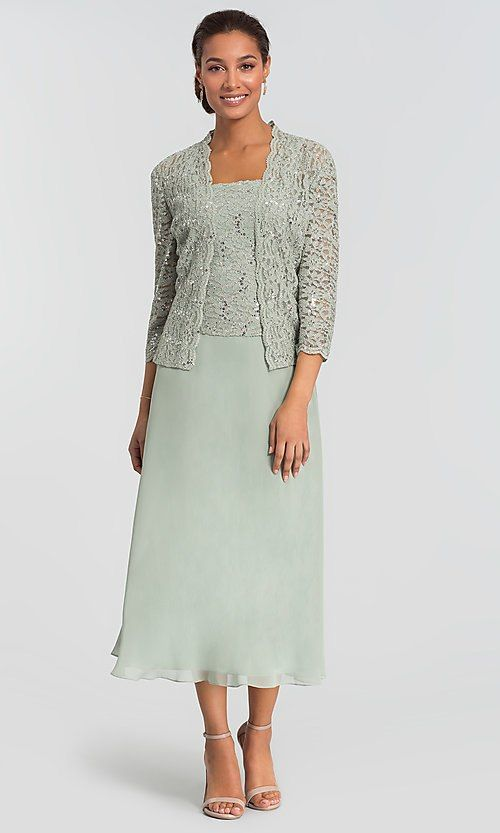 c71e364a1e19 Alex Evenings Ice Sage Green MOB Dress with Jacket in 2019 ...