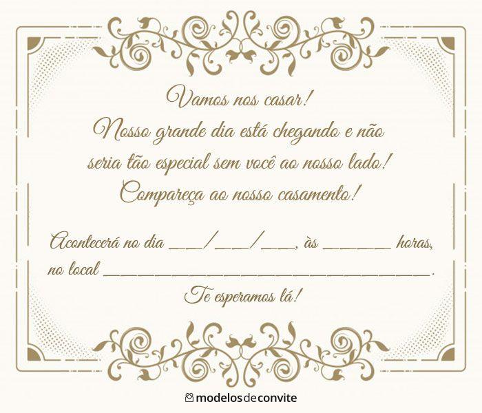 Convites De Casamento Para Imprimir Convite De Casamento
