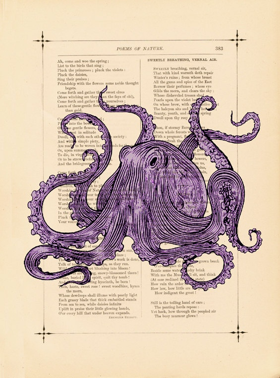 Steampunk Purple Passion Octopus Sea Creature by BiloxiHousewife, on Etsy. This may already be on this board. I need to do some houskeeping