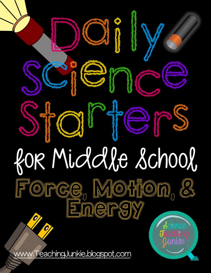 Science Teaching Junkie - Daily Science Starters for Middle School: Force, Motion, and Energy $8