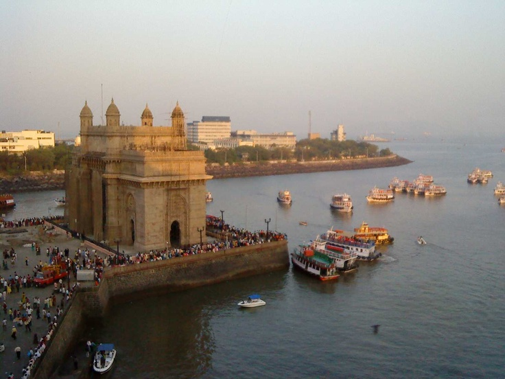 Mumbai:  The Gate of india taken from the Taj Palace Hotel