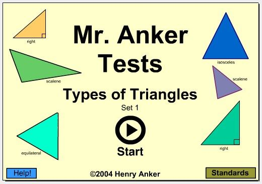Names of Polygons | types of triangles set 1 types of triangles set 2