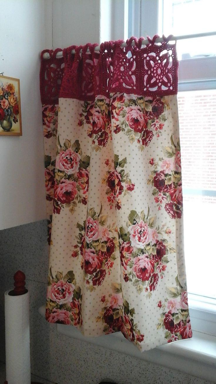 Ravelry: yarnstarved's Kitchy Curtains, Para cuando se te rompe la cortina del bañoi, excelente idea para recuperarla y seguir usándola!!!!