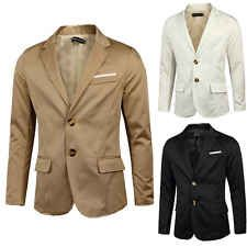 Mens New Stylish Long Sleeve Lapel Collar Two Button Sports Coats Casual Blazers