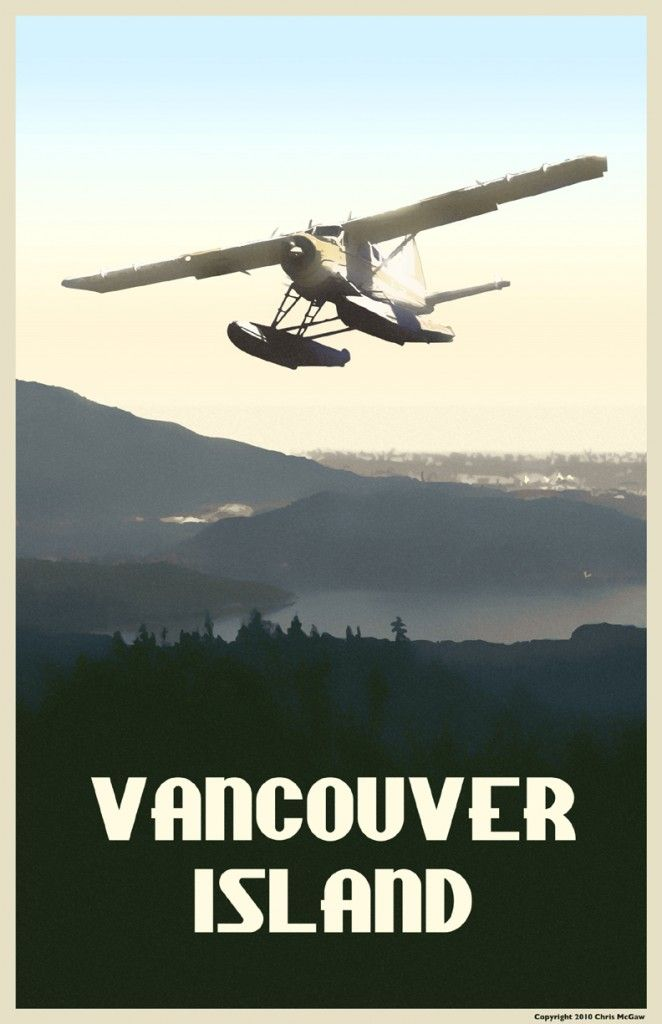 Vancouver Island Travel Poster