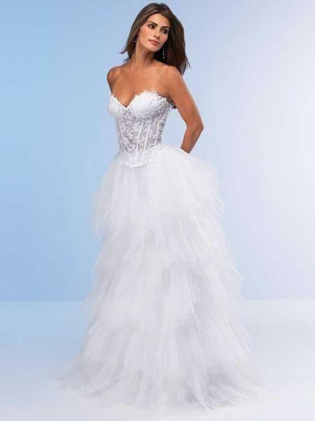 Robe de mariée de nouveauté en tulle et en dentelle