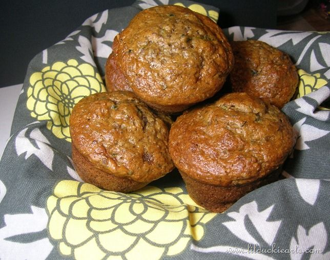 Banana Zucchini Flax Muffins. Just made these...added 1c chocolate ...