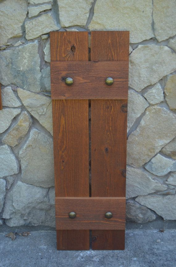 Stained Cedar Shutters Exterior Shutters Board And By OnceWood Part 39