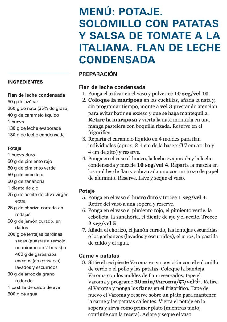 Potaje+carne c/verdura+flan