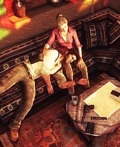 Uncharted 3, Drake & Elena - Definitely one of my favorite OTPs of all time.