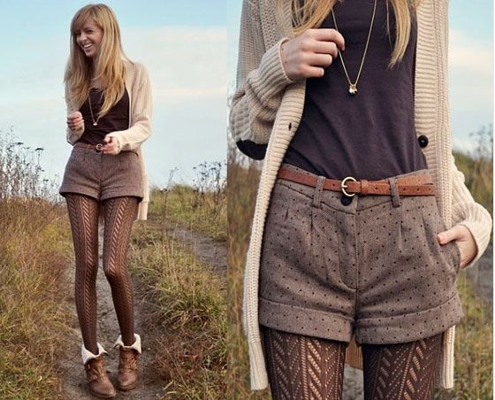 shorts and tights, I really like the look of this style