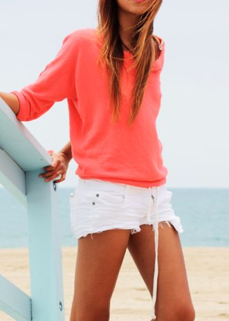 : Colors Combos, Summer Fashion, White Shorts, Beaches Outfits, Summer Outfits, Style Summer, Summer Clothing, Beaches Style, Style Fashion