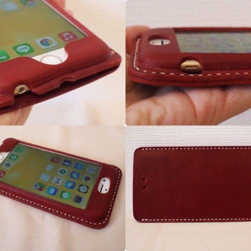 【選べる革とステッチ】iPhone6カバー ケース 【名入れ可】