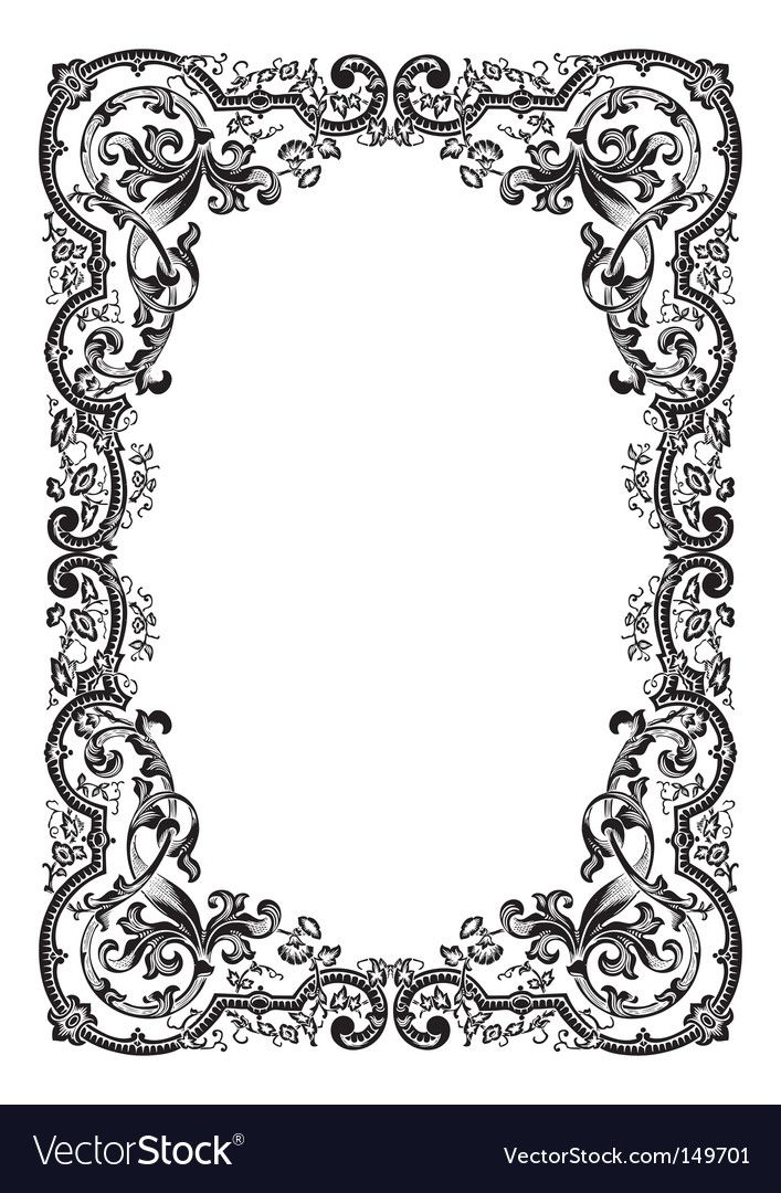 Antique Frame Engraving Download A Free Preview Or High Quality Adobe Illustrator Ai Eps Pdf And Hig Antique Frames Islamic Art Pattern Floral Border Design