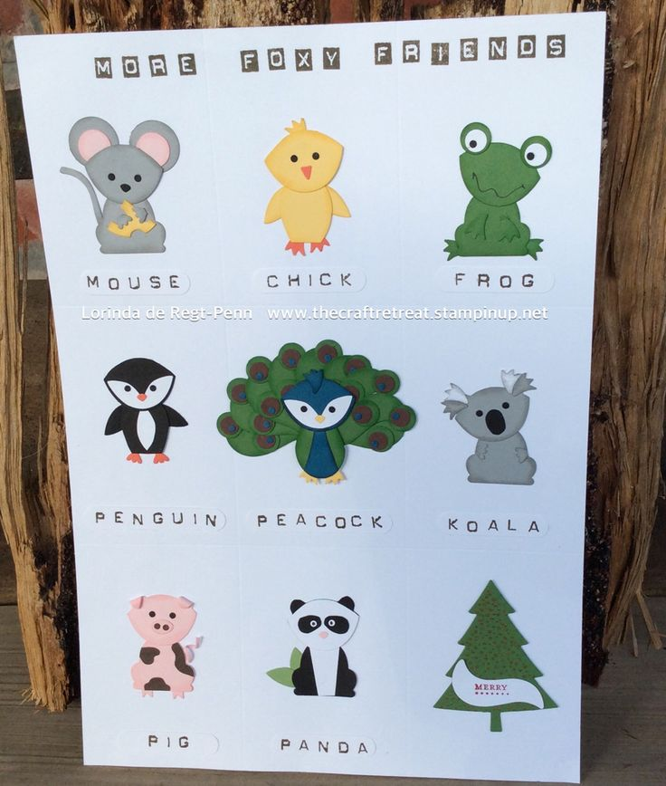 More Foxy Friends using the Fox builder punch and Owl Builder punch.  Lorinda de Regt-Penn independent Stampin' Up! Demonstrator.