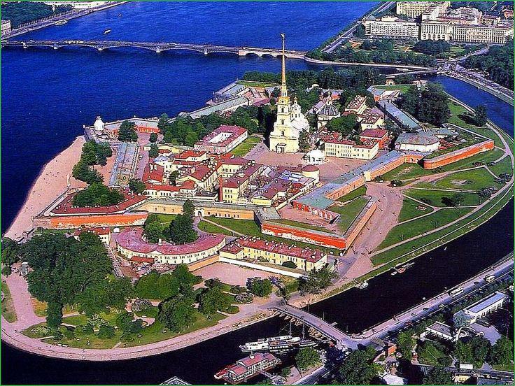 панорама Петропавловской крепости