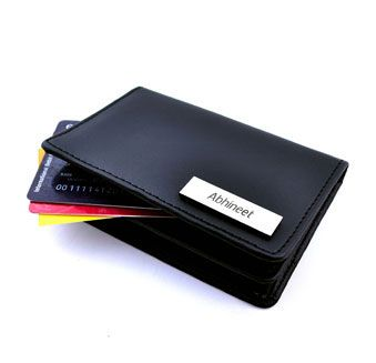Elegant leatherette cad holders! Personalize now with Printvenue ! Order Link : http://www.printvenue.com/c/card-holders?utm_source=Pinterest&utm_medium=Post&utm_campaign=Cardholders_12Feb14