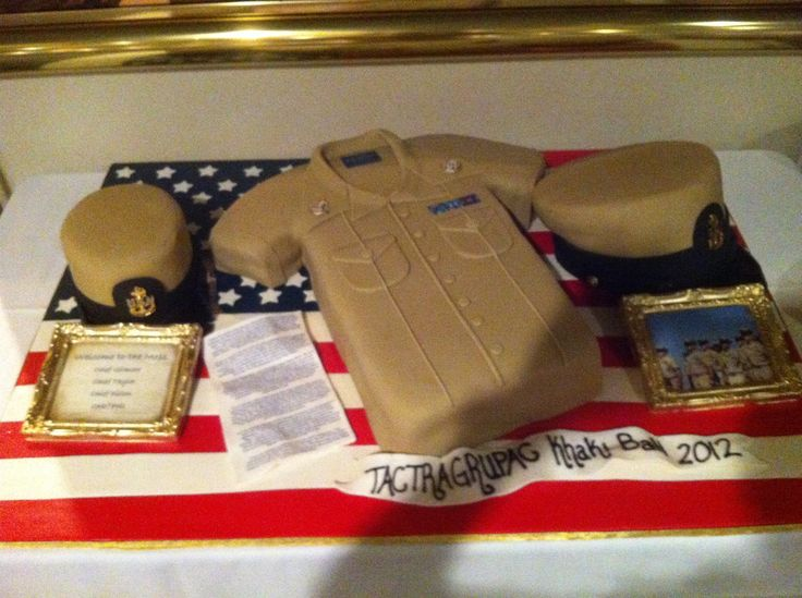 Khaki Ball Cake Navy Chief Navy Pride Pinterest