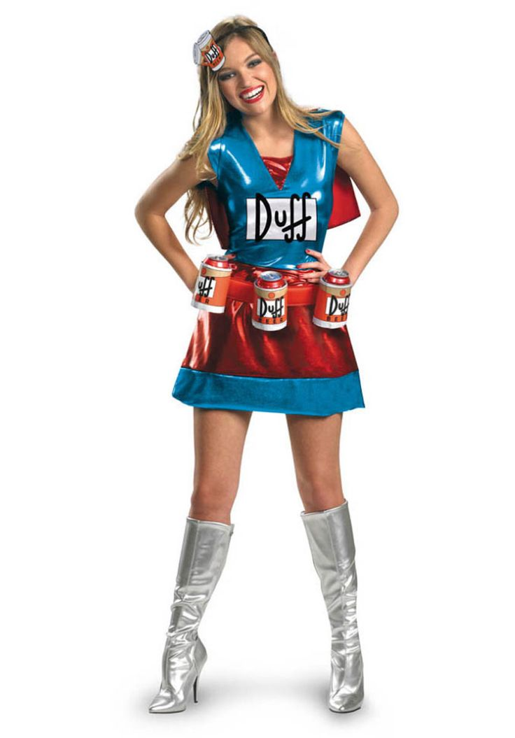 Fun Duffwoman Costume Deluxe, Ladies Duffman Costume | Funny Costumes | Escapade® UK