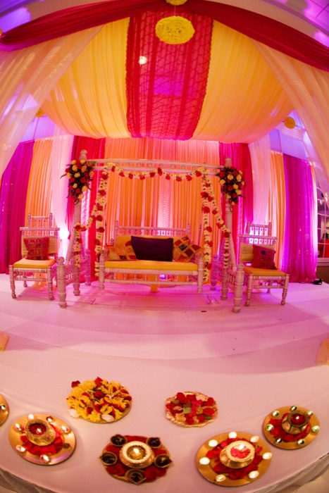 Orange Pink Purple Mandap
