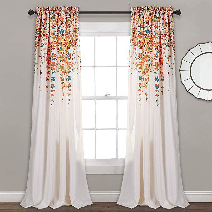 Amazon Com Lush Decor Weeping Flowers Room Darkening Window Panel