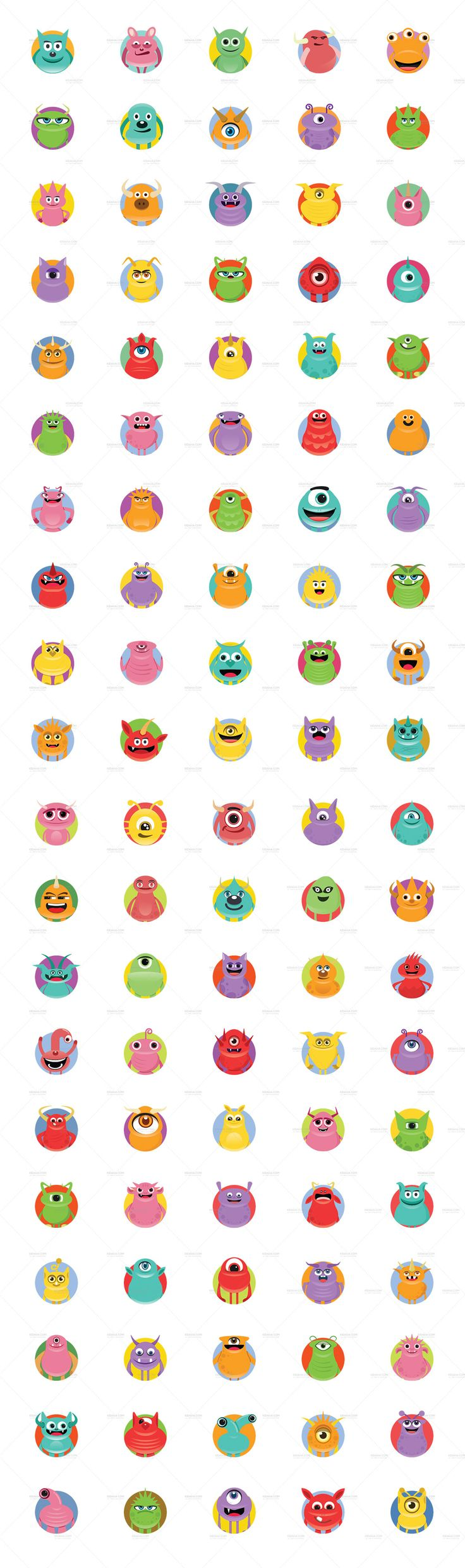 Monster Version 3 Character Stickers Clip Arts Monster Version 3 character is a mega collection of clip artswhich you can use to create awesome characters for both personal and commercial use, it comes with 100+ premadecharacters + avatars. Scroll to see all & Download ! Updates for free in the future.