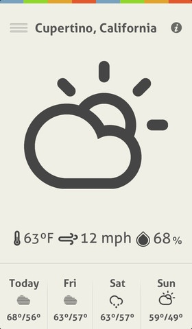 ClearWeather  깔끔한 날씨 어플.  하지만 조금느림