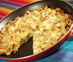 José Olé Cast Iron Taquito Frittata. Quick and Easy Mexican meal and recipe.