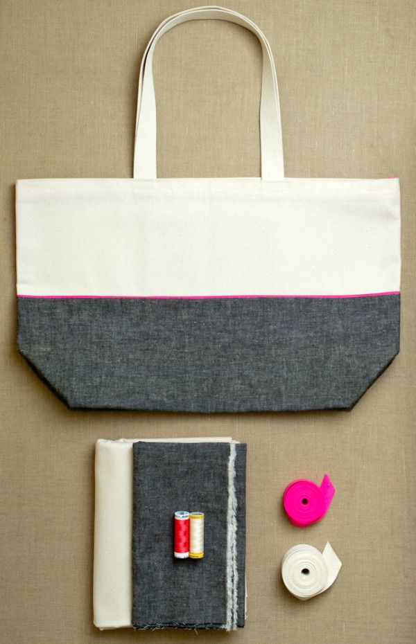 Molly's Sketchbook: EverydayTote - The Purl Bee - Knitting Crochet Sewing Embroidery Crafts Patterns and Ideas!