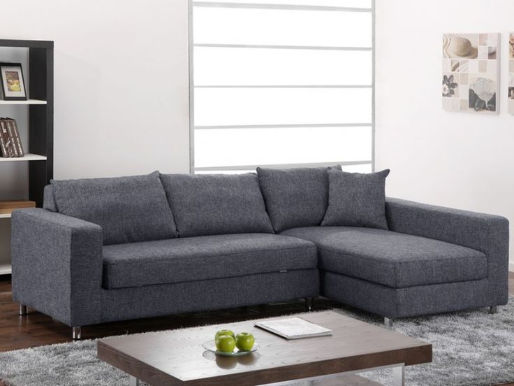 Canape D Angle Gris Anthracite Adslev