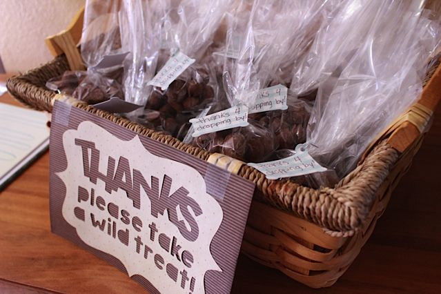 """Moose Baby Shower Favors ... """"Moose Droppings"""" Chocolate Covered Peanuts"""