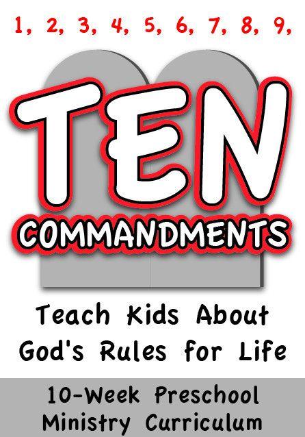 church preschool programs the 10 commandments 4 week preschool ministry curriculum 727