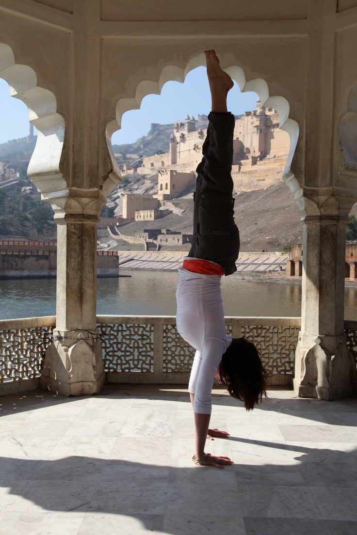 Upside down in India… » Yoga Pose Weekly