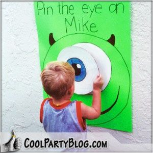 Monsters Inc Party - Pin the Eye on Mike - party game @Marcia Cunha Childress  @Marcia Cunha Wittenauer @Ben Wittenauer