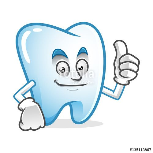 """Download the royalty-free vector """"Thumb up tooth mascot, tooth character, tooth cartoon vector """" designed by IronVector at the lowest price on Fotolia.com. Browse our cheap image bank online to find the perfect stock vector for your marketing projects!"""